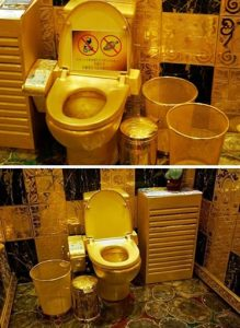 scrap gold toilet